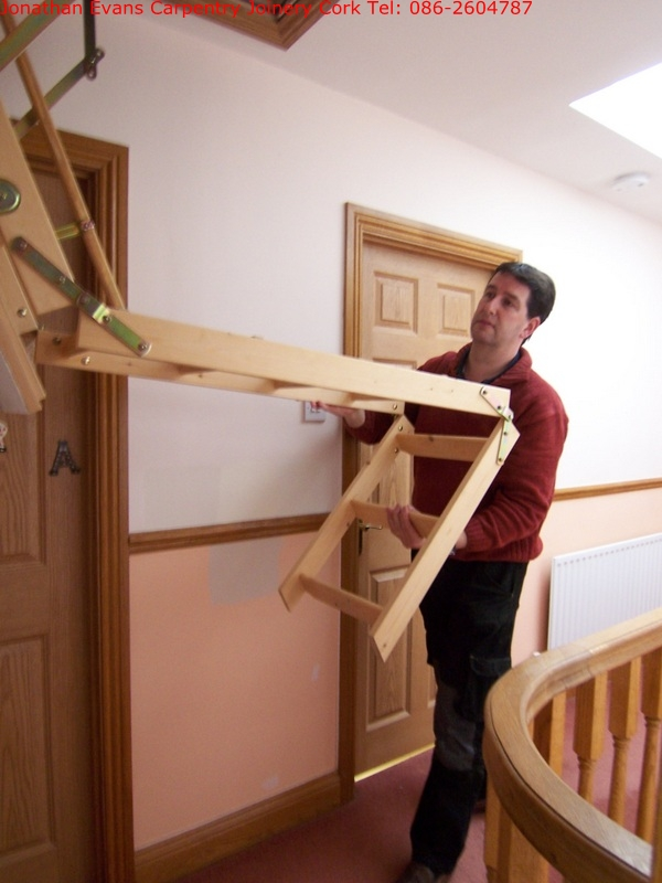 Attic Stairs Ladders Cork With Jonathan Evans Carpentry Joinery Tel:  086 2604787