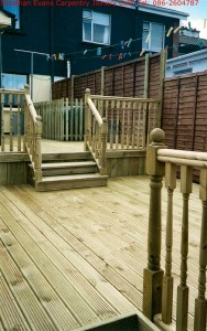 Custom Timber Decking Cork with Jonathan Evans Carpentry Joinery Tel: 086-2604787